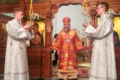 Архиепископ Димитрий совершил Всенощное бдение и Божественную литургию в Супрасльском Богоявленском мужском монастыре