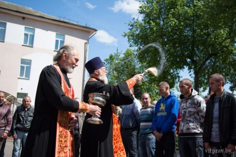 Cященник Александ Мозолев принял участие в призывных мероприятиях на территории Витебского областного военного комиссариата