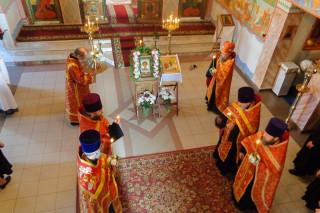 В канун праздника святого великомученика Георгия Победоносца, в храме г. Витебска, освящённом в его честь, было совершено торжественное всенощное бдение