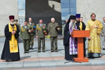 Духовенство Витебской епархии приняло участие в церемонии принятия присяги новобранцами 103-ей гвардейской отдельной мобильной бригады