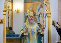 В день праздника Успения Пресвятой Богородицы состоялась Божественная литургия в Свято-Успенском кафедральном соборе Витебска и крестный ход по главным улицам города