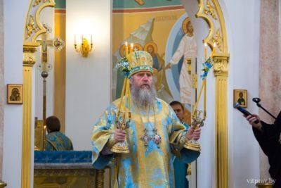 В день Успения Пресвятой Богородицы состоялась Божественная литургия в Свято-Успенском кафедральном соборе Витебска, а также крестный ход