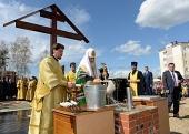 Предстоятель Русской Церкви совершил закладку храма св. блгв. кн. Александра Невского в новом микрорайоне Биробиджана
