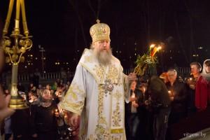 Фоторепортаж с Пасхального богослужения в Свято-Успенском кафедральном соборе города Витебска