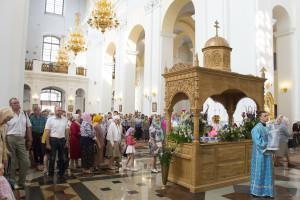 Архиерейское служение в праздник Успения Божией Матери в кафедральном соборе города Витебска. Фоторепортаж