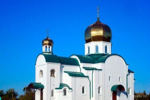 Храм святого преподобного Онуфрия Великого г. п. Оболь Шумилинского района