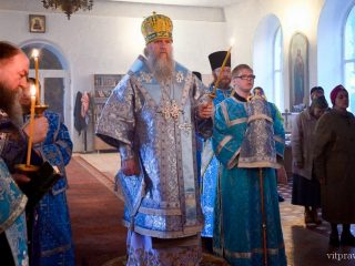 В канун недели 14-ой по Пятидесятнице архиепископ Димитрий совершил всенощное бдение Свято-Троицком Марковом монастыре города Витебска