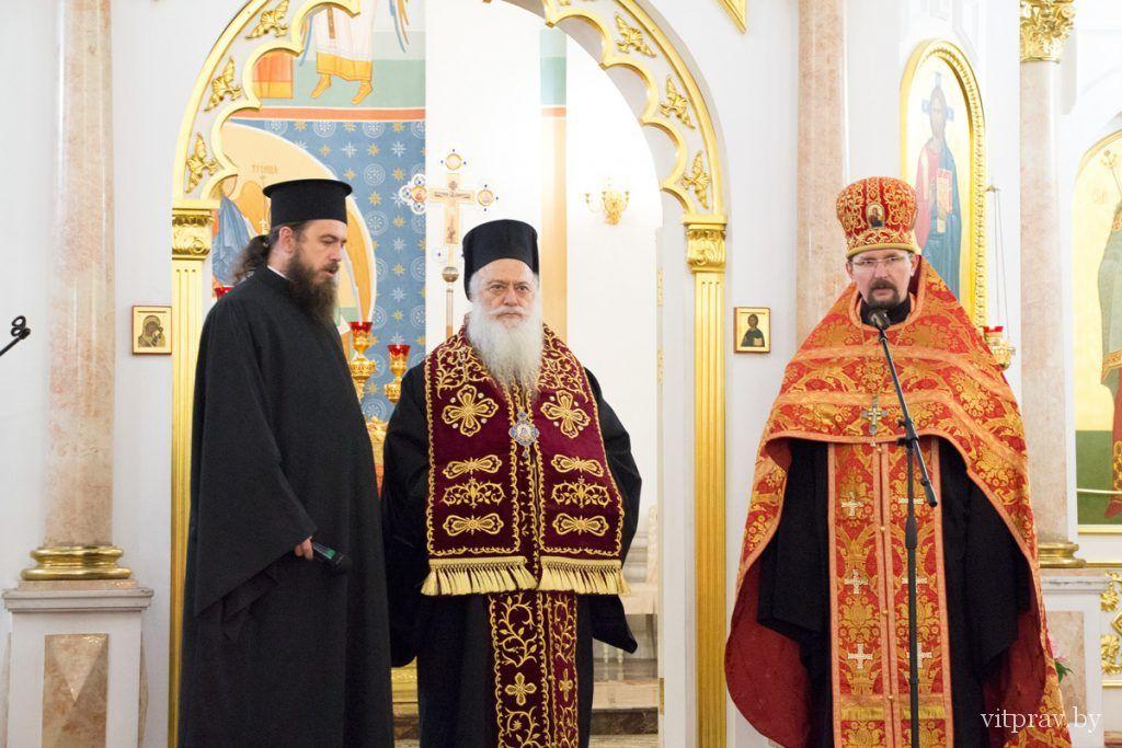 Ковчег с десницей великомученика Димитрия Солунского прибыл в кафедральный собор Витебска