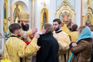 В кафедральном соборе Витебска состоялась торжественная Литургия по случаю дня памяти святого благоверного Александра Невского