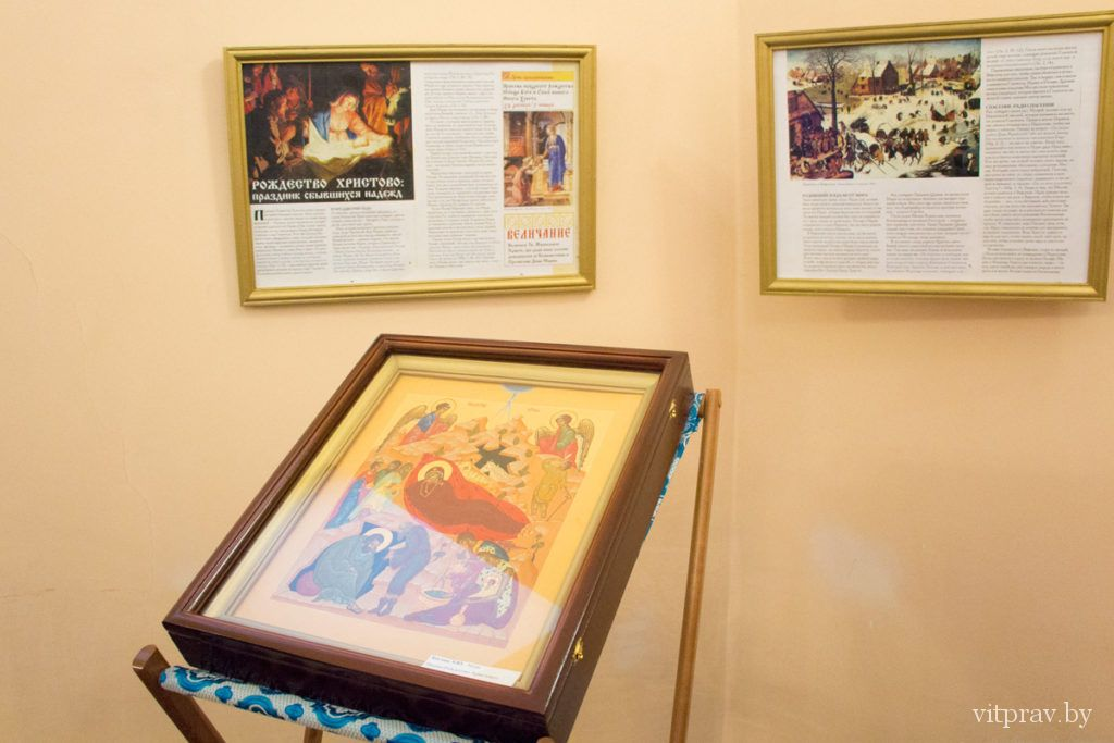 Рождественский вертеп, сделанный ученицами Витебского духовного училища, представили в Преображенском храме Витебска