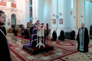 великое повечерие с чтением покаянного канона преподобного Андрея Критского