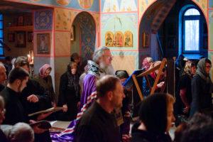 В среду первой седмицы Великого поста архиепископ Димитрий возглавил великое повечерие в храме святого Георгия Победоносца города Витебска