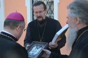 Архиепископом Димитрий встретился с Апостольским нунцием в Витебске