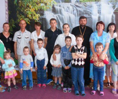 В Социально-педагогическом центре Лепеля крестились восемь детей
