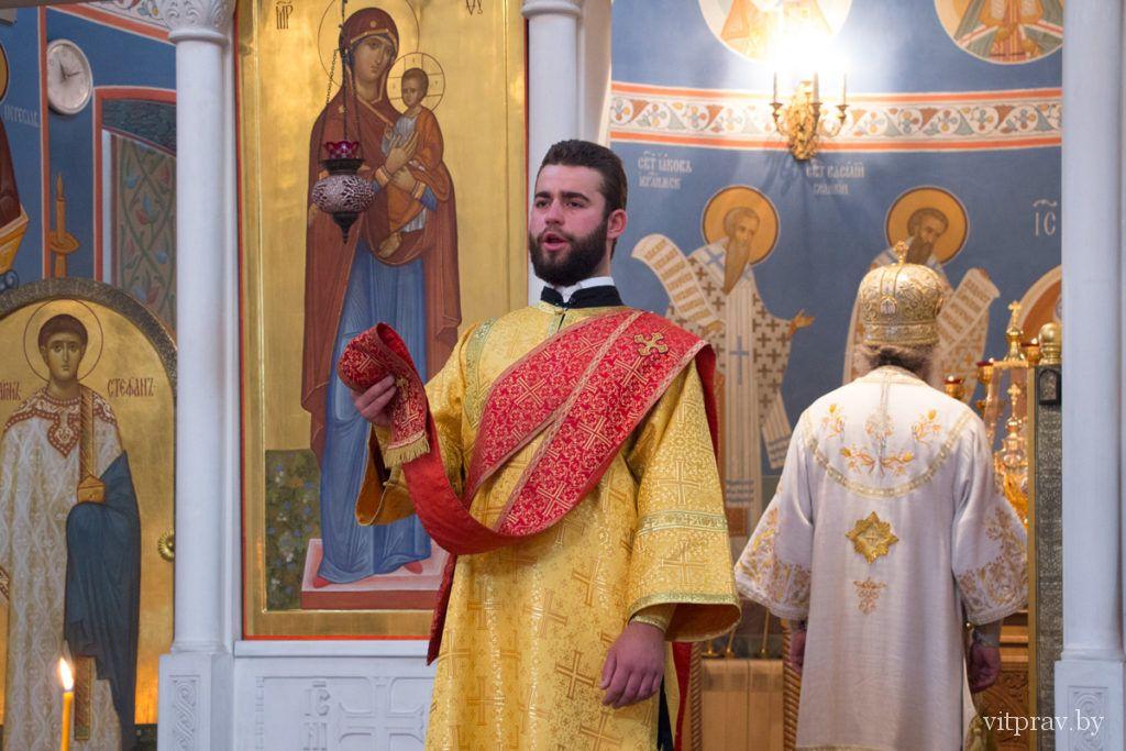 Архиепископ Димитрий совершил Божественную литургию в Воскресенском храме города Витебска