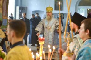 Архиепископ Димитрий возглавил всенощное бдение в Марковом мужском монастыре