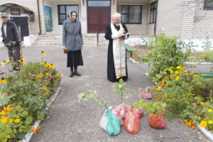 Ко Дню пожилых людей в Новозарянском доме сестринского ухода была начата закладка фруктового сада