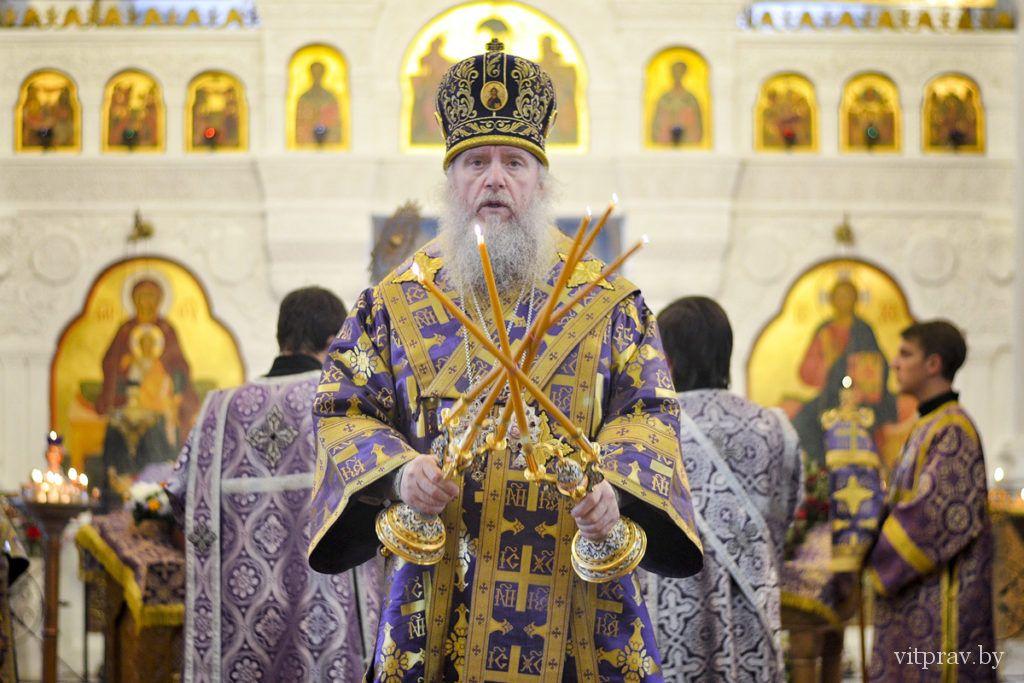 Архиепископ Димитрий возглавил Литургию в Свято-Покровском соборе города Витебска и провёл собрание городского духовенства