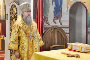 Архиепископ Димитрий совершил вечернее богослужение в Марковом монастыре