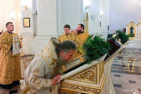 В канун Недели 23-й по Пятидесятнице архиепископ Димитрий совершил всенощное бдение в кафедральном соборе города Витебска