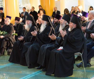 Управляющий Витебской епархией и секретарь епархиального управления посетили презентацию перевода Священного Писания Нового Завета на современный белорусский язык