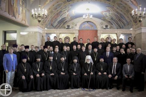 Первый проректор Витебской духовной семинарии принял участие в торжествах по случаю актового дня Минской духовной академии