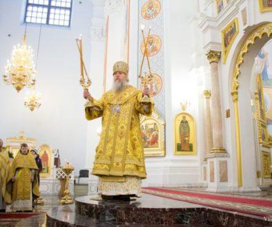 В Свято-Успенском кафедральном соборе была совершена Божественная литургия по случаю 25-летия епархии