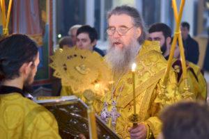 Архиепископ Димитрий совершил всенощное бдение в Марковом мужском монастыре города Витебска
