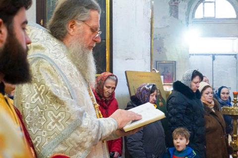 В праздник Сретения Господня архиепископ Димитрий совершил Божественную литургию в храме святой великомученицы Ирины
