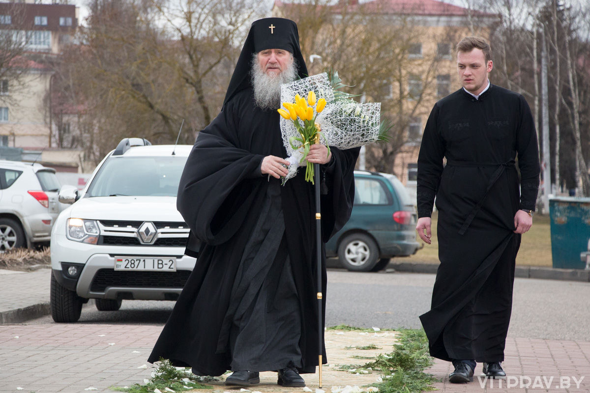 Божественная литургия в день праздника Благовещения Пресвятой Богородицы в одноимённом храме Витебска. Фоторепортаж
