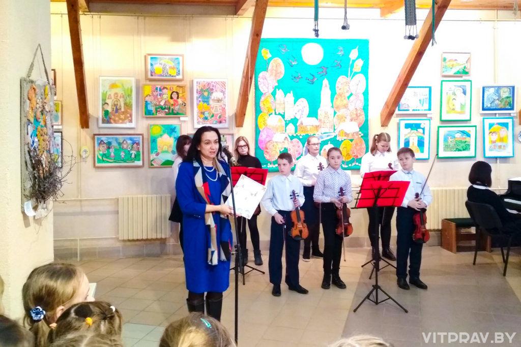 «Божий мир глазами детей» - в Витебске открылась ежегодная выставка детского творчества