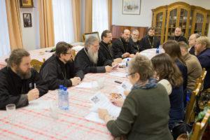 Предпасхальная встреча архиепископа Витебского и Оршанского Димитрия с журналистами