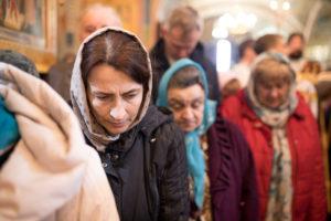 Божественная литургия в день праздника Благовещения Пресвятой Богородицы в одноимённом храме Витебска