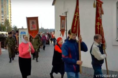 Пасхальный Крестный ход во время светлой седмицы в Витебске