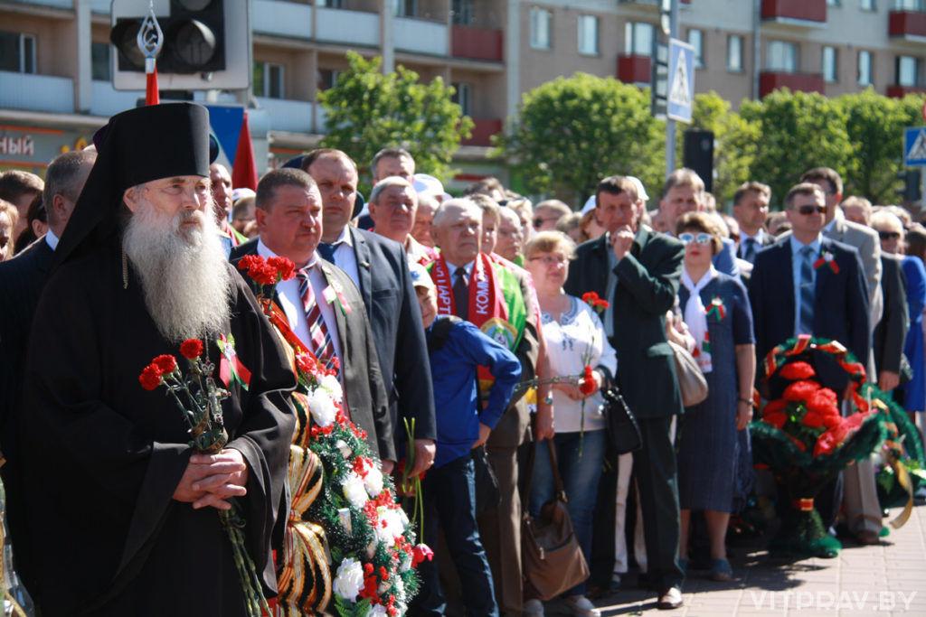 Представители оршанского духовенства приняли участие в торжественном митинге по случаю Дня Победы