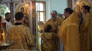 В приделе равноапостольной княгини Ольги храма святой великомученицы Ирины вПокровском города Москвы была совершена первая Божественная литургия
