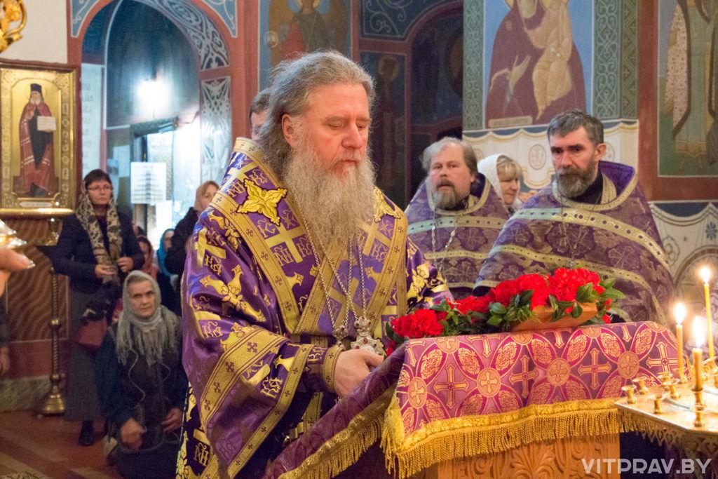Архиепископ Димитрий возглавил всенощное бдение в Свято-Покровском соборе города Витебска