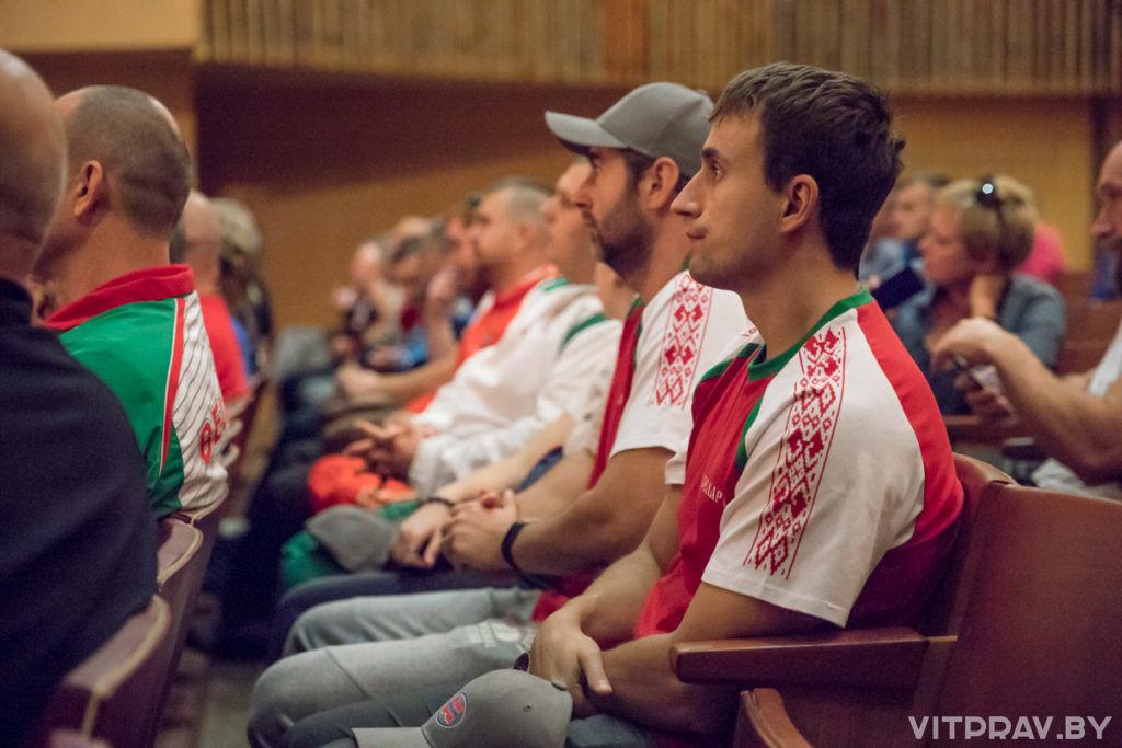 Руководитель отдела спорта и туризма Витебской епархии принял участие в открытии 30-го чемпионата мира по гиревому триатлону