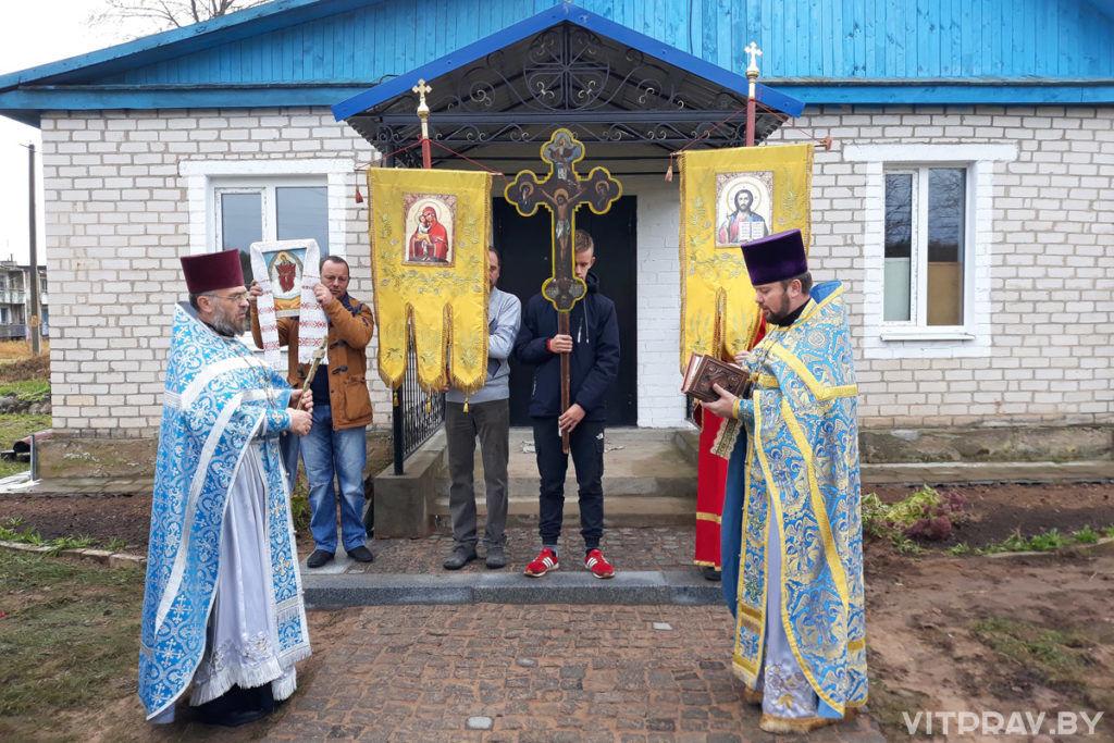 В агрогородке Пушки Лиозненского района совершена первая Божественная литургия