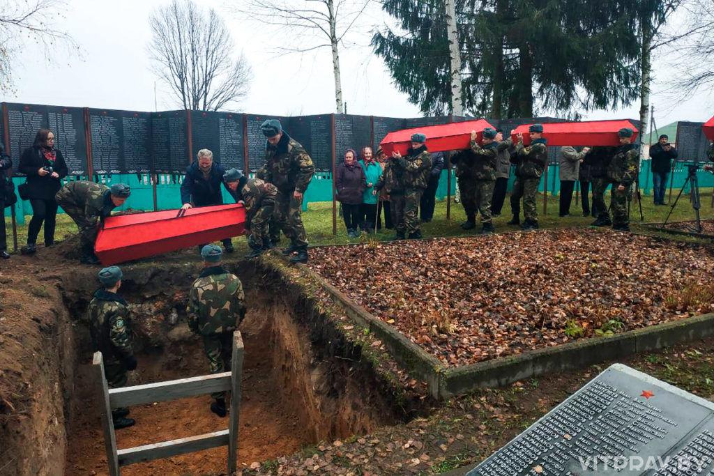 Клирики Витебской епархии приняли участие в церемонии перезахоронения останков 137 войнов, погибших в Великой Отечественной войне