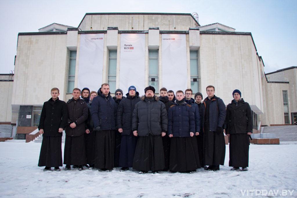 Студенты и преподаватели Витебской духовной семинарии посетили концерт хора Валаамского монастыря