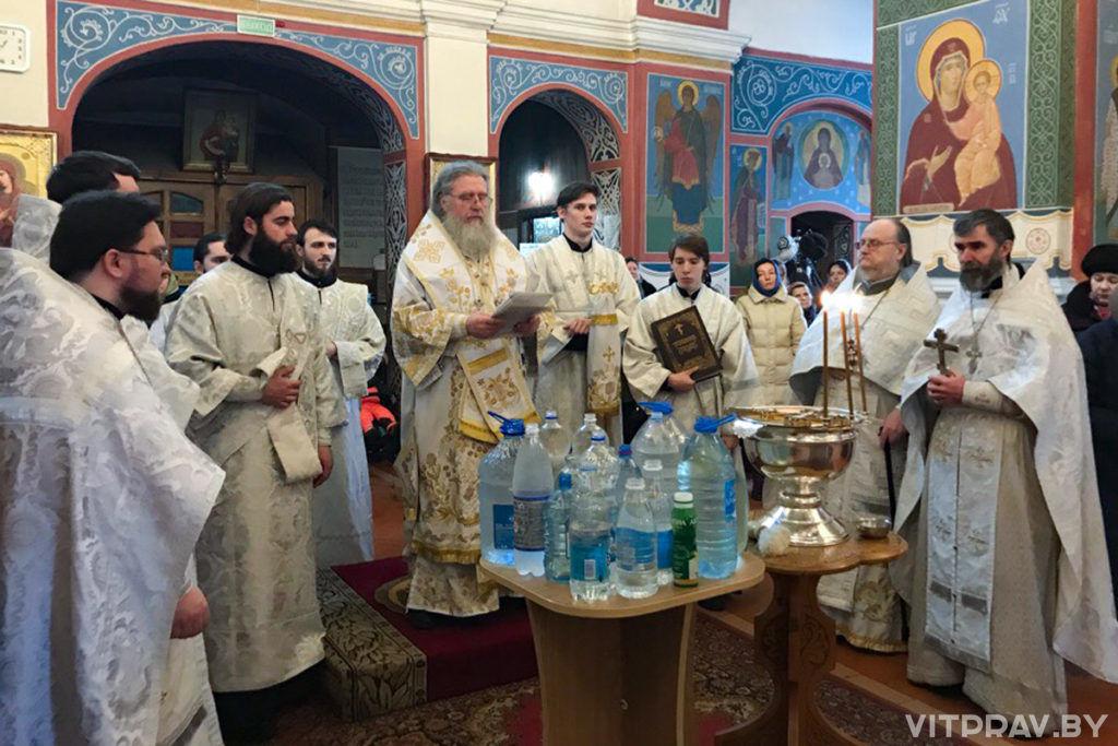 В Крещенский сочельник архиепископ Димитрий совершил богослужение в Свято-Покровском соборе