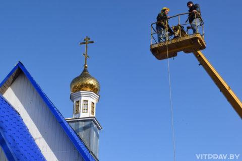 Храм Преображения вЛепеле увенчали новым куполом