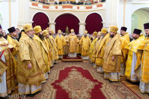 В Полоцке прошло соборное архиерейское богослужение по случаю празднования 180-летия Полоцкого церковного Собора