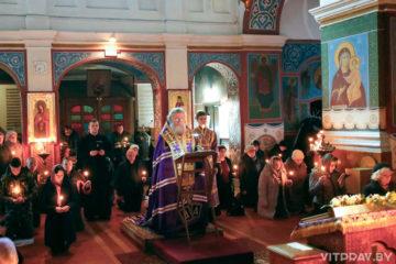 В четверг первой седмицы Великого поста архиепископ Димитрий возглавил Великое повечерие в Свято-Покровском соборе