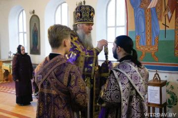 Архиепископ Димитрий совершил всенощное бдение в Свято-Троицком Марковом мужском монастыре