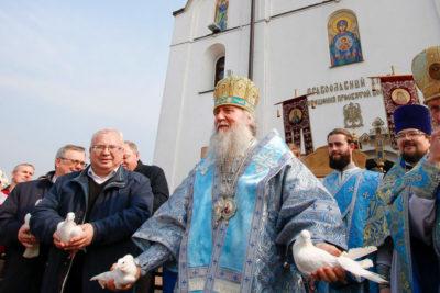 Архиепископ Димитрий возглавил Божественную литургию в храме Благовещения Пресвятой Богородицы города Витебска