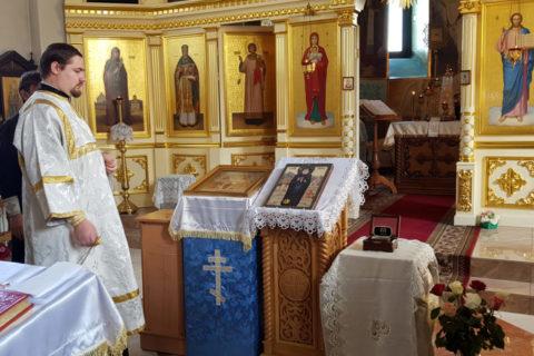 В Оршу прибыла икона с частицей мощей преподобного Гавриила Самтаврийского (Ургебадзе)