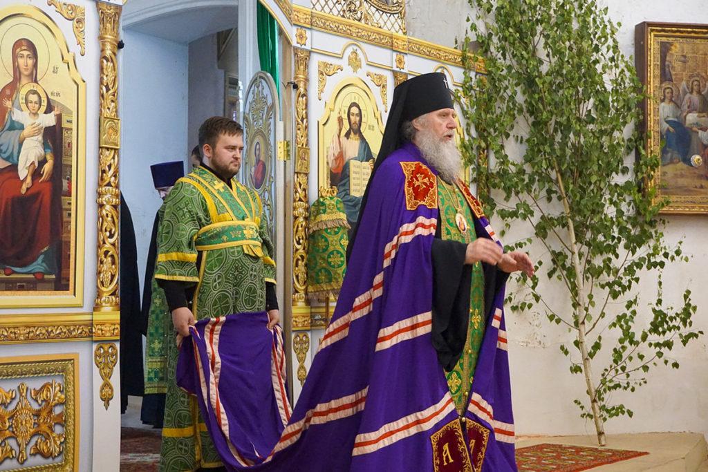 В праздник Святой Троицы архиепископ Димитрий возглавил богослужения в храме святой великомученицы Ирины в Покровском города Москвы