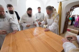 Архиепископ Димитрий совершил освящение храма cвятой равноапостольной Ольги Свято-Духова монастыря